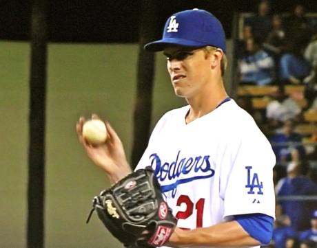 High-priced right-hander Zach Greinke makes his Dodger debut.