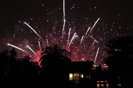Friday Night Fireworks as seen from my front porch.