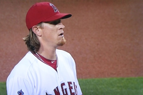 Angels pitcher Jered Weaver retired the first 12 batters he faced.