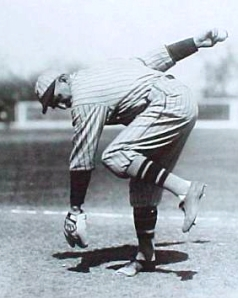 "Carl Mays ""slings the pill from his toes,"" said one Baseball Magazine writer."