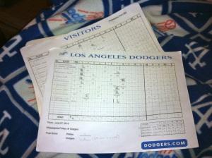 My score sheets.