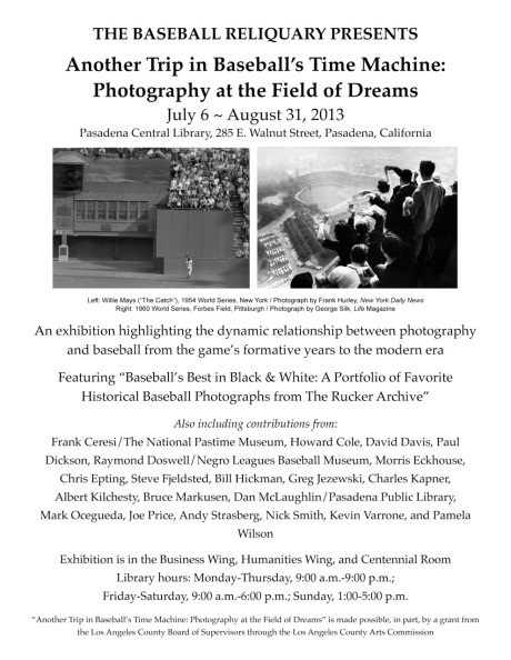 Baseball Photo Exhibition Flyer