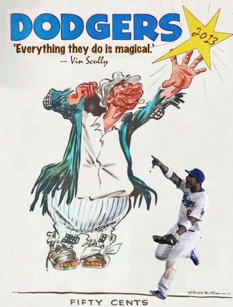 2013 Dodgers program